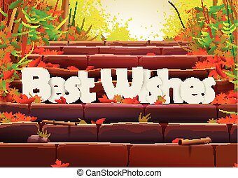 Best Wishes wallpaper background - vector illustration of...