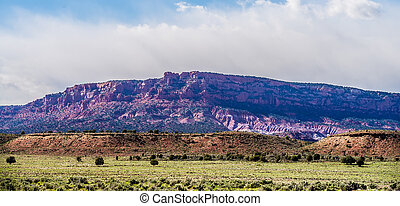 canyon mountains formations panoramic views near paria utah...