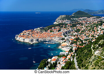 Aerial view of Dubrovnik, Croatia.