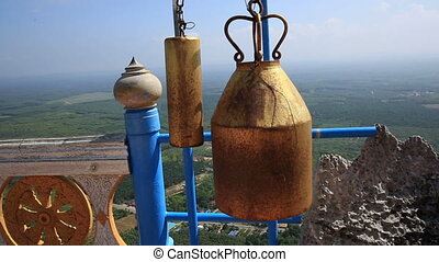 temple bell knocking by wind blow