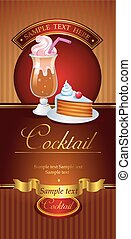 Cocktail vector banner for menu cover or board