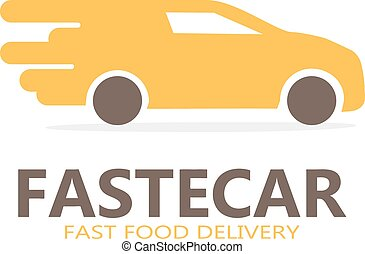 Vector logo of fast delivery - Vector logo design element...