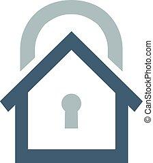 House security logo or icon. - Vector logo design element...