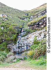 Waterfall in the Robinson Pass over the Outeniqua Mountains...