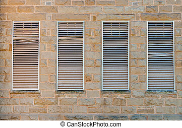 Louvre windows, Oudtshoorn - Louvre windows in a historic...