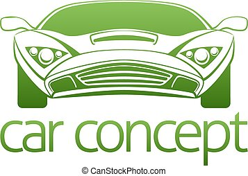 Luxury car concept - An abstract illustration of a luxury...