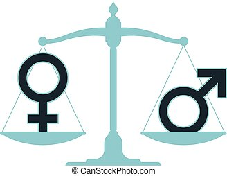 Scale in equilibrium male female - Scale in equilibrium with...