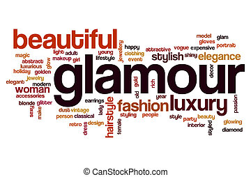 Glamour word cloud concept