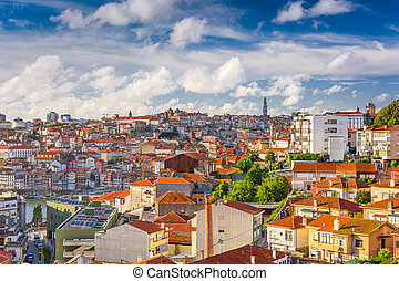 Porto Cityscape - Porto, Portugal Cityscape from Vila Noval...