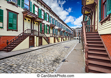 Historic New York City Rowhouses - New York City, USA at...