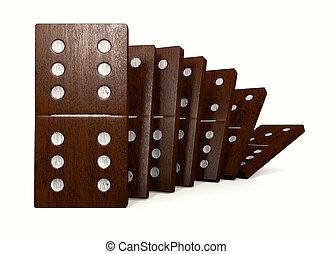 Dominoes - 3D rendering of the dominoes