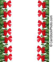 verde, frontera, navidad, rojo