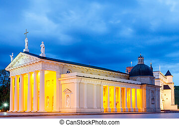 Vilnius. Lithuania. Cathedral Square. - Cathedral of St....