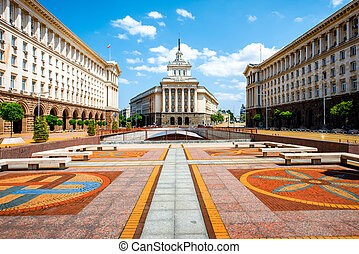 Ensemble of three Socialist Classicism edifices in Sofia -...