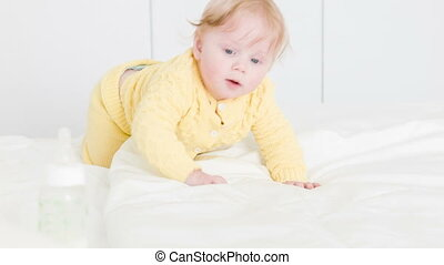 Little pressure for three month baby - Happy time of mother...