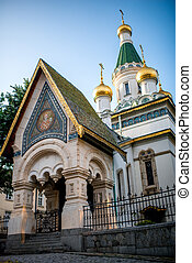 St. Nicholas church in Sofia, capital of Bulgaria