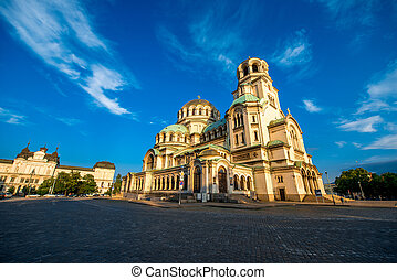 The St. Alexander Nevsky Cathedral in Sofia, the capital of...