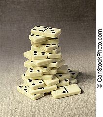 High tower of dominoes
