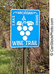 Wine Country - Roadside sign promoting wine and tourism in...