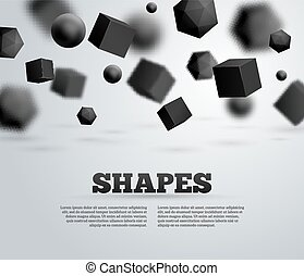 Abstract Molecules and Particles Design Vector Illustration...