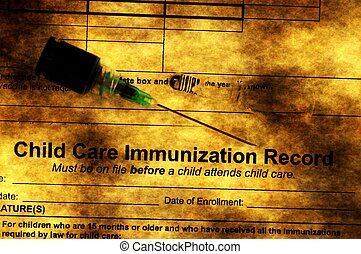 inmunización, concepto,  Grunge