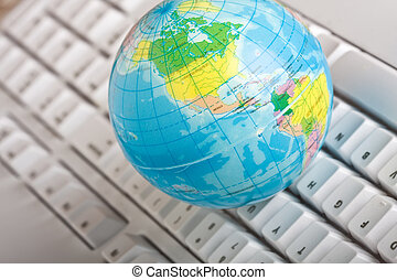 world wide - concept of the world wide web globe on a...