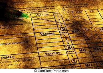 Vaccine grunge concept