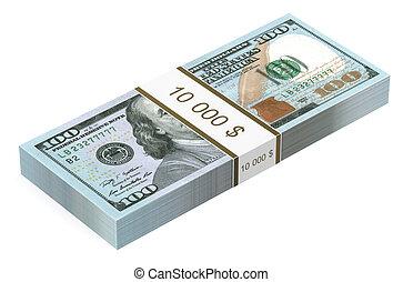 pack of dollars closeup