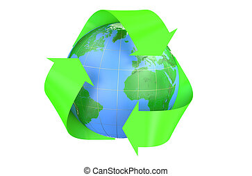 Recycling World Concept isolated on  white background