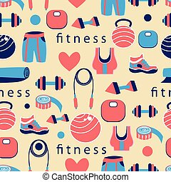 fitness ball - large fitness ball on background with objects...