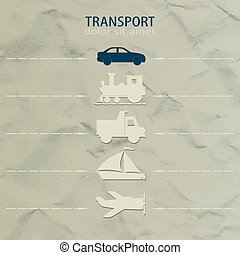 Icons transport
