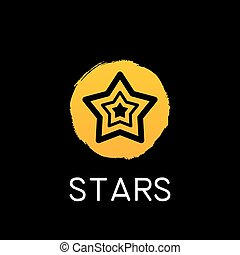 yellow star icon on black background
