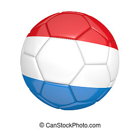Soccer ball with flag of Luxembourg - Soccer ball, or...