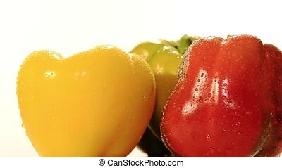 peppers - various peppers on white background