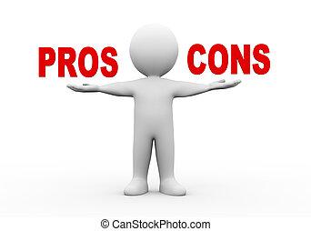 3d man open hands pros cons