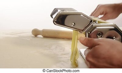 homemade pasta - composition of fresh Italian pasta