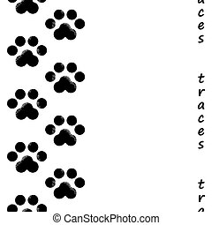 footprints of the animal
