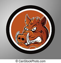 Warthog Circle sticker