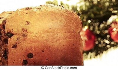 panettone christmas cake, typical sweet Italian