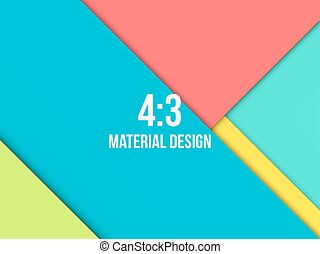Background Unusual modern material design. Abstract Vector...