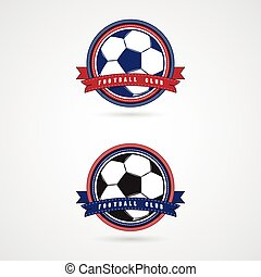 Soccer football badge logo design templatesSport team...