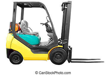 fork lift isolated