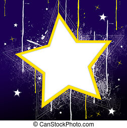 star - drawing of beautiful star in a purple background