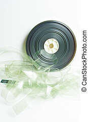 Movie35 mm film reel on white - Movie 35 mm film reel on...