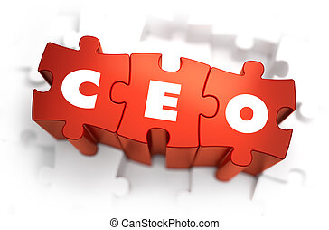CEO - White Word on Red Puzzles - CEO - Chief Executive...