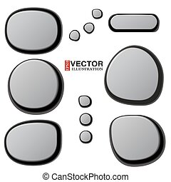 Vector Collections of Spa Stones