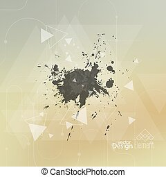 Abstract blurred background with hipster triangles and...