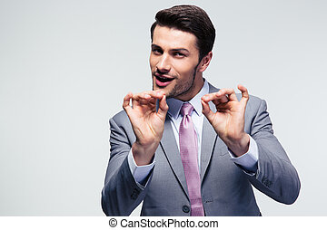 Businessman gesturing ok sign - Handsome businessman...