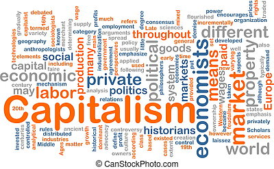 Capitalism management word cloud - Word cloud concept...