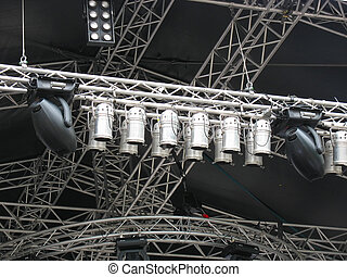 stage illumination light equipment and projectors